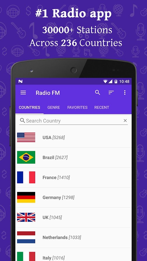 how to play radio on android