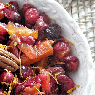 Spiced Cranberry Chutney with Apricots, Cherries and Pecans.