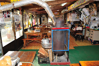 Photo: We were starving by the time we found this noodle house. There was a fireplace behind our bench.