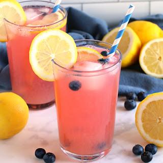 Healthy Blueberry Lemonade.