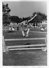 "Photo: International style cross country (aka: ""how not to hurdle"") Jacqueline Hansen"