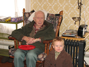 Photo: Gordon and his great-grandson, Henry (2012)