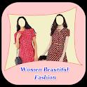 Women Beautiful Fashion Photo Montage Suit icon