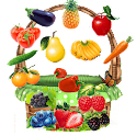 Bucket Fruit - sort kids game icon