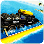 6x6 Water Surfer: Police Car Criminal Chase Sim 3D