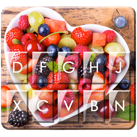 Тема для клавиатуры Yummy Fruit Heart
