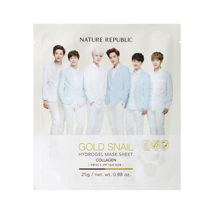 Nature Republic Gold Snail Hydrogel Mask by claimed.my