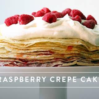 Raspberry Crepe Cake.
