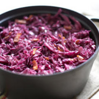 Braised Red Cabbage with Bacon.