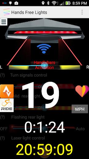 玩免費遊戲APP|下載Hands-Free Bicycle LED  light app不用錢|硬是要APP