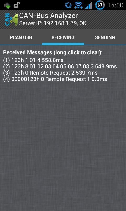 Скриншот CAN-Bus Analyzer (PCAN USB)