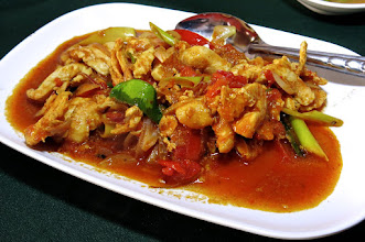 "Photo: a spicy Shan chicken dish called ""oop kai"""