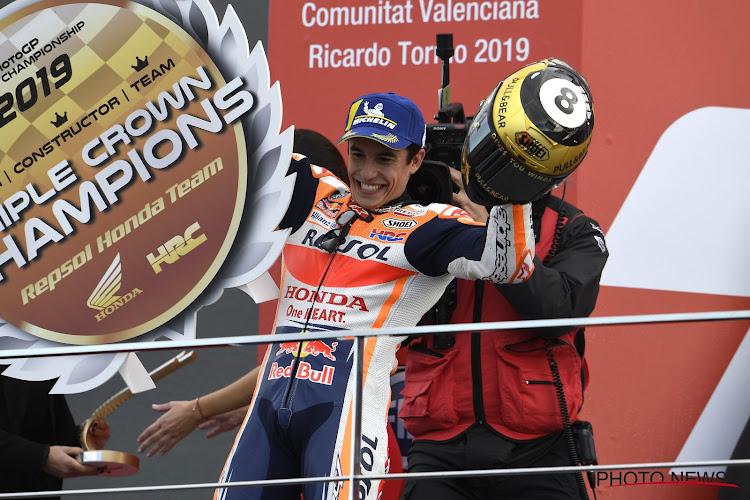 Marc Marquez wint ook laatste manche van MotoGP-seizoen in eigen land