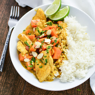 Almond Chicken and Sweet Potato Curry Recipe