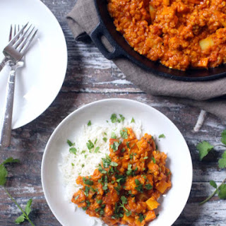 Vegan Red Lentil and Potato Curry.