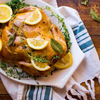 Slow Cooker Lemon Thyme Chicken.