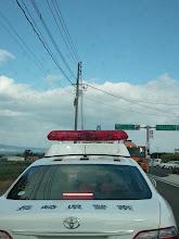 Photo: シマバラ方面に向かってます。 前の車がパトカーのため、ゆっくり速度です。