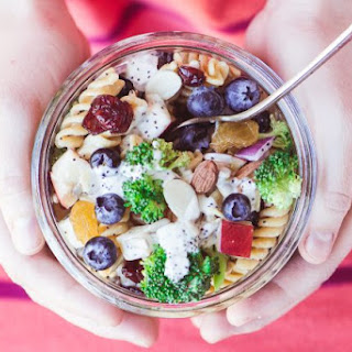 Blueberry Broccoli Pasta Salad.