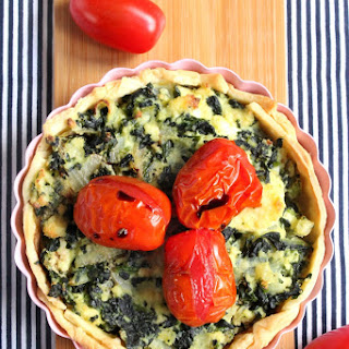 Spinach and Ricotta Tart with Roasted Cherry Tomatoes