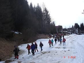 Photo: za početak staze, odmah na smrznuti snijeg