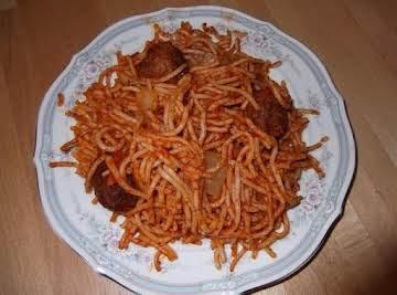 Meatball Pineapple Pasta