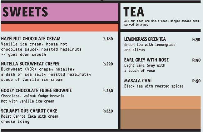 Coast Cafe menu 2
