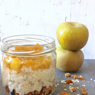 Apple Pie Rice Pudding Seeds Granola Parfait (vegan, Gluten Free)