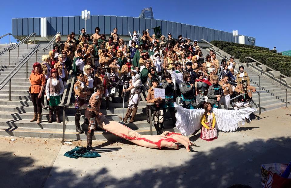 Anime Expo 2015 Attack On Titan Gathering