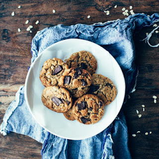 Oatmeal Peanut Butter Chocolate Chunk Cookies.