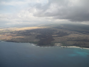 Photo: An old lava flow from Mauna Kea to the ocean. Sea level to 13796 feet in one view.