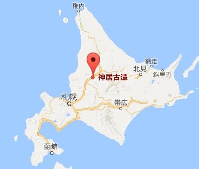 地図:神居古潭