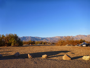 Photo: View of the Panamint Mtns from Furnace Creek Campground.
