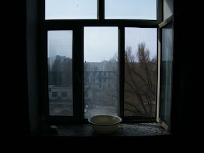 Photo: a gloomy day indoor of benzrad 朱子卓's dorm, where he lingered near a year praying for his new family and new life with his girls.