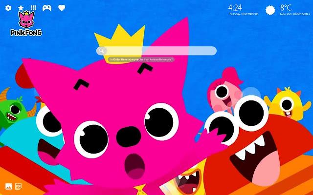Pinkfong Baby Hd Wallpaper New Tab Theme