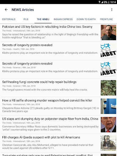 Free Current Affairs GK - UPSC IAS Civil Services 1.13 screenshots 9