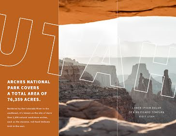 Arches National  - Travel Brochure template