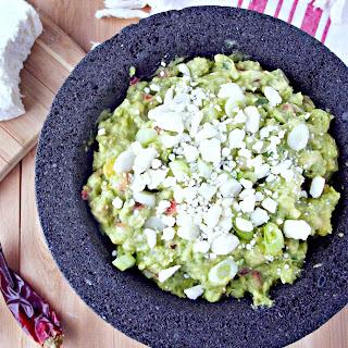 Fork Smashed Guacamole w Roasted Corn & Cotija