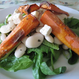 Roasted Carrot And Butterbean Salad