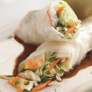 Shrimp Spring Rolls with Hoisin Dipping Sauce.