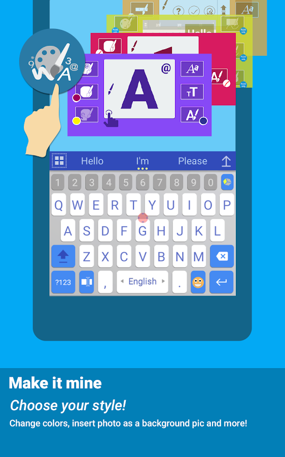 ai.type keyboard Free + Emoji- screenshot