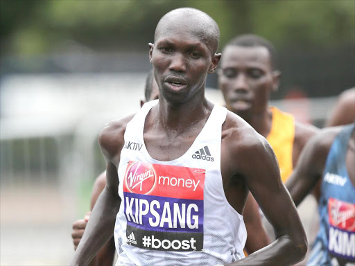 Wilson Kipsang during a past London Marathon race /COURTESY