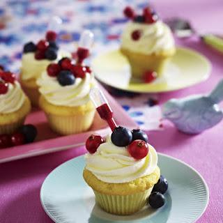 Mini Raspberry Cupcakes.
