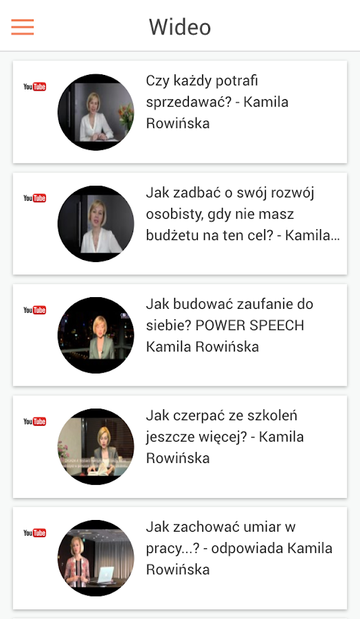 Kamila Rowinska- screenshot