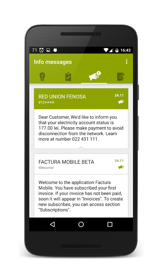 Factura Mobile- screenshot