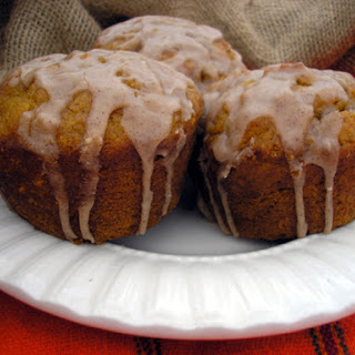 Pumpkin Cupcakes with Cinnamon Icing.