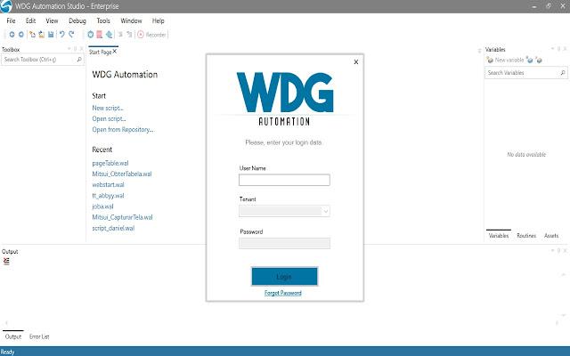 WDG Automation Web Recorder
