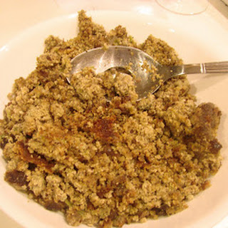 Turkey Day Trial Run ~ Almond Meal Dressing (Stuffing)