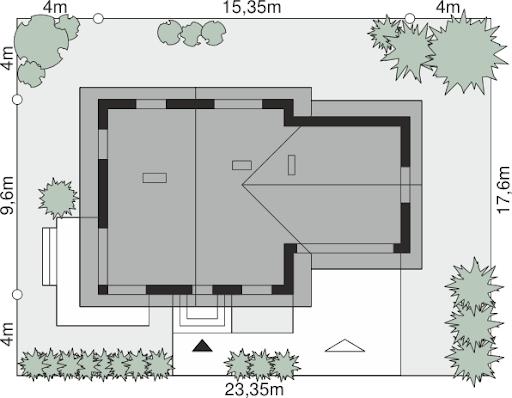 Dom przy Cyprysowej 47 - Sytuacja