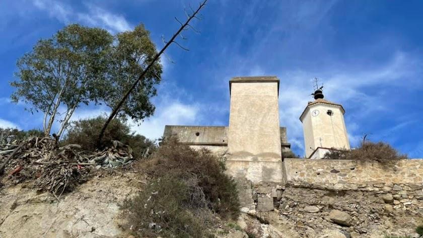 Cerro del Castillo de Zurgena, donde se encuentra la Torre del Reloj.