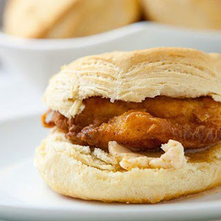 Southern Fried Chicken Biscuit Sandwiches.